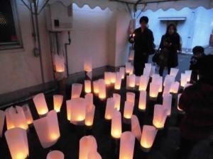 20150221追悼の竹灯籠