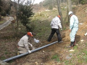 クラフト 排水パイプ作業