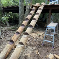 小屋の階段